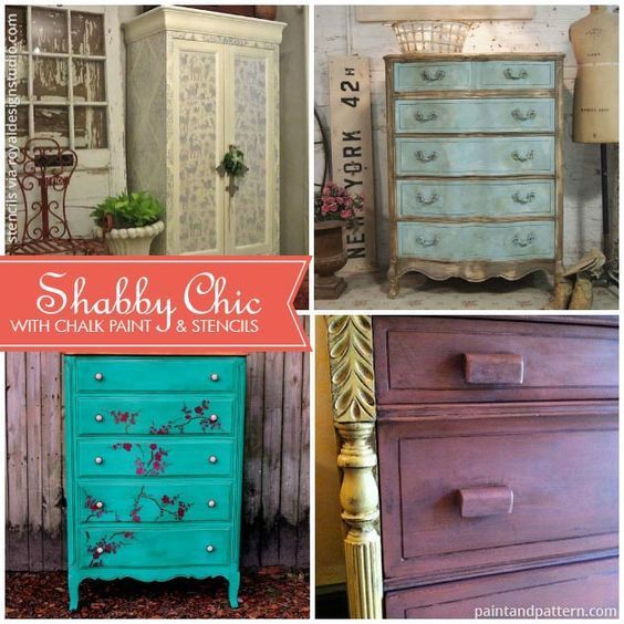 Shabby Chic Furniture with Chalk Paint and Stencils