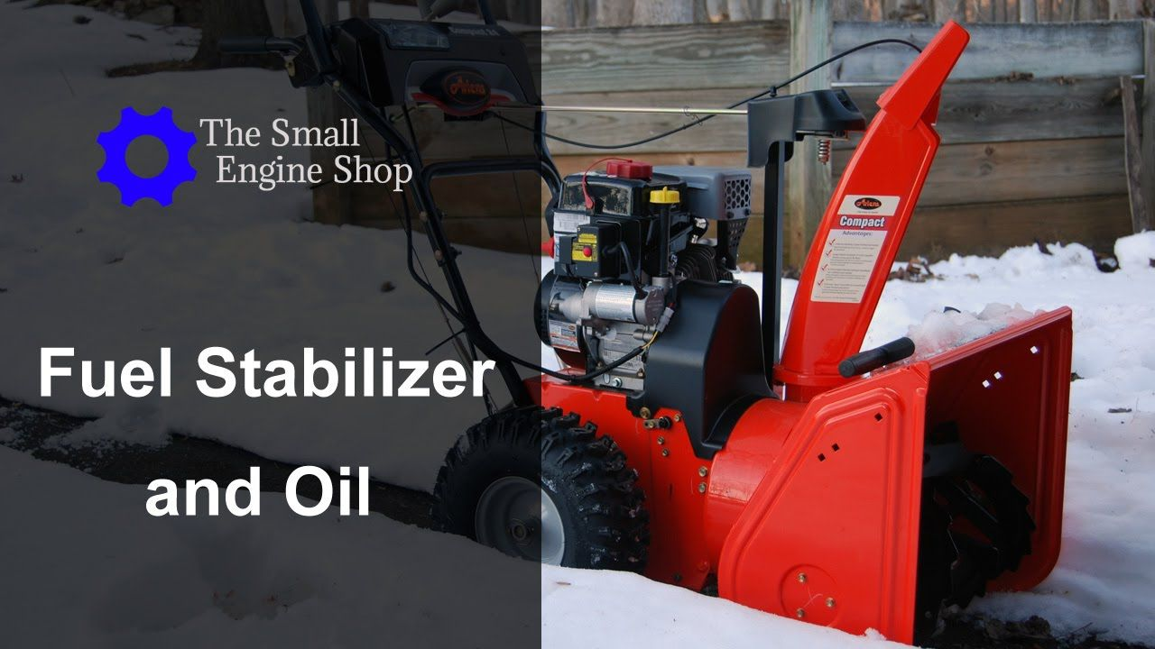 Adding Fuel Stabilizer and Changing Oil on a Ariens Compact 24 Snow Blow.