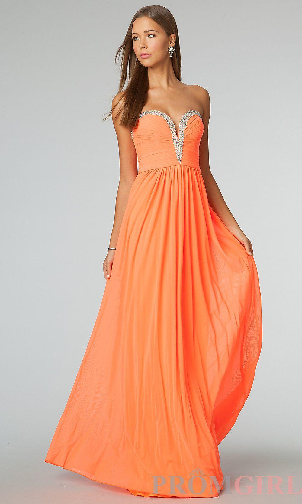 Orange prom dress love this color Orange bridesmaid