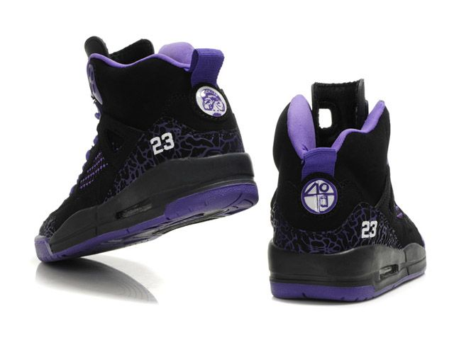 purple jordan shoes for women