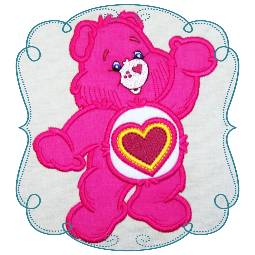 Care Bears Applique Machine Embroidery Design Pattern INSTANT