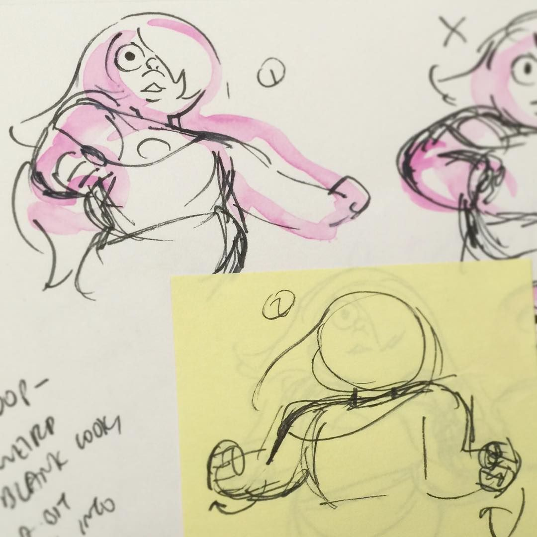 Sketches for Amethyst's fusion dance, for Coach Steven!