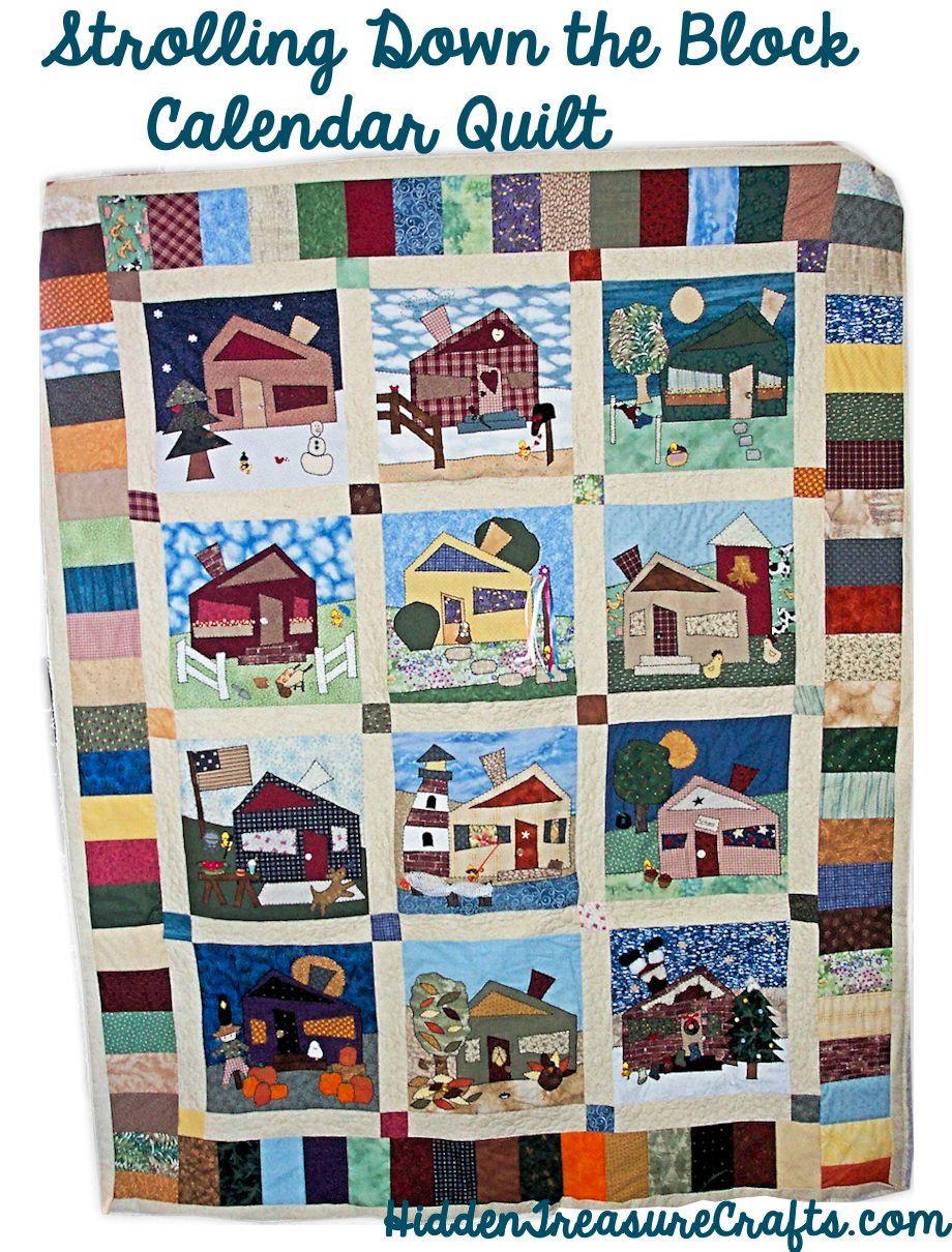 Strolling Down The Block Calendar Quilt Block Calendar