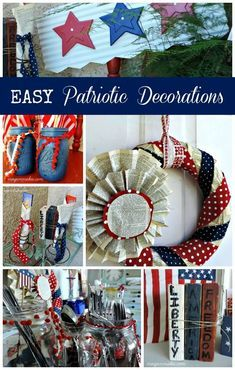 EASY Patriotic Decorations For Your Porch #whatmeeganmakes #porchideas #fourthofjuly