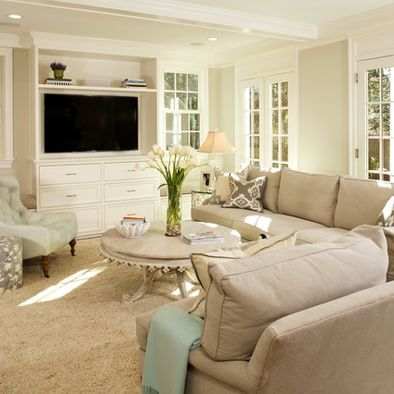 Love the Sofa and Built in Entertainment Center.
