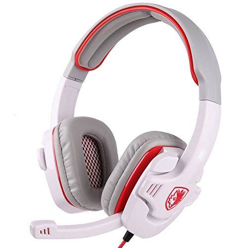 83ac9c6de14 Sades 35mm Wired Gaming Headset with Microphone for Games PC Tablets  Computer Cell Phones white * You can get additional details at the image  link.