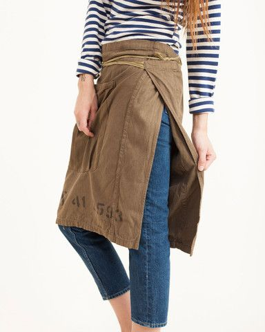 Vintage Remade Military Apron