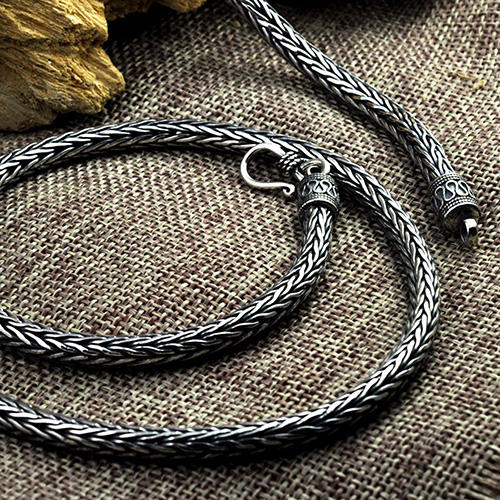 "Mens Sterling Silver Round Wheat Chain 20""-24"""
