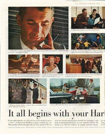 1961 The Hartford Insurance Group Vintage Ad Your Hartford Agent