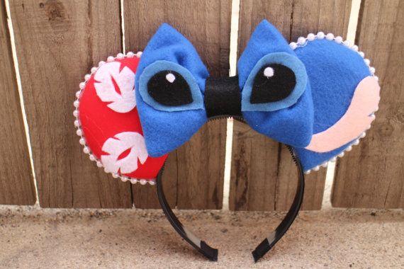Lilo & Stitch-Inspired Mouse Ear Headband por ModernMouseBoutique