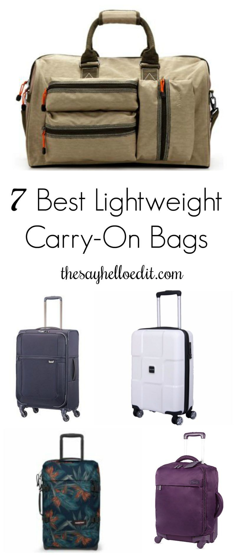 7 Best Lightweight Cabin Luggage Bags Travel Gear