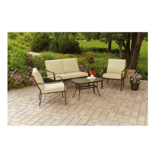 Outdoor Patio Furniture Deals Cushioned 4 Piece Sofa Conversation