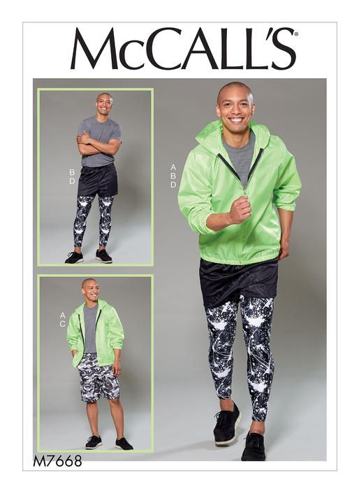 9534f53d92a58f Men s athletic wear sewing pattern  M7668