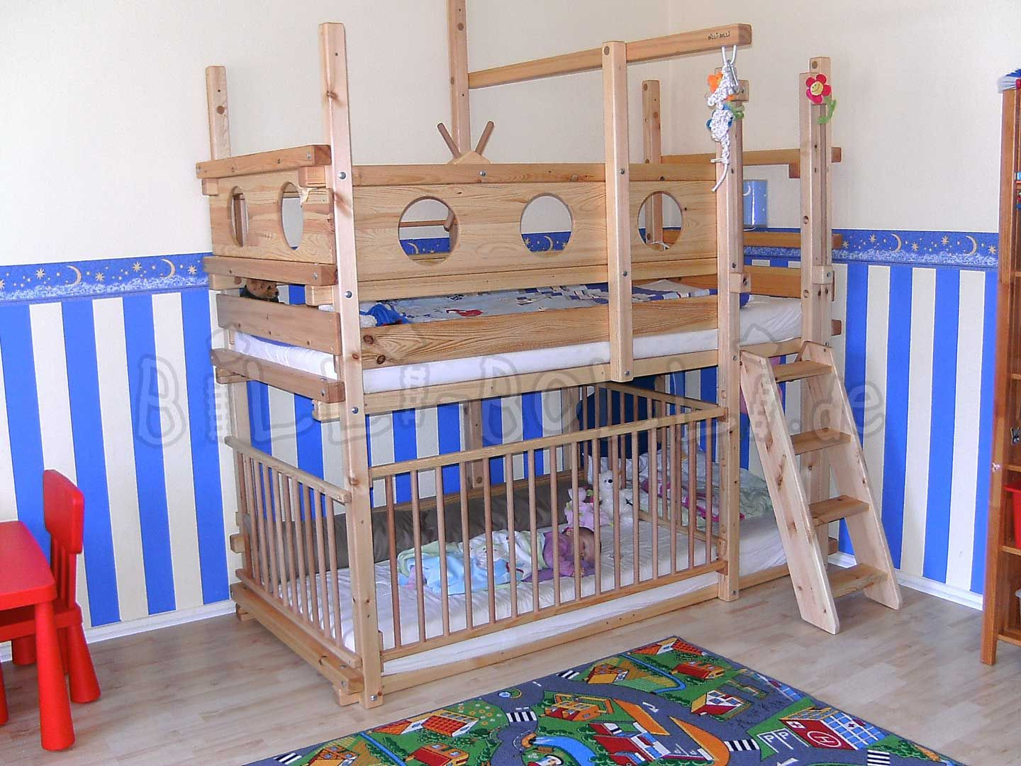 Piratenbett Hochbett Etagenbett Kids Rooms Bunk Bed With Desk Kid Beds Kids Bedroom