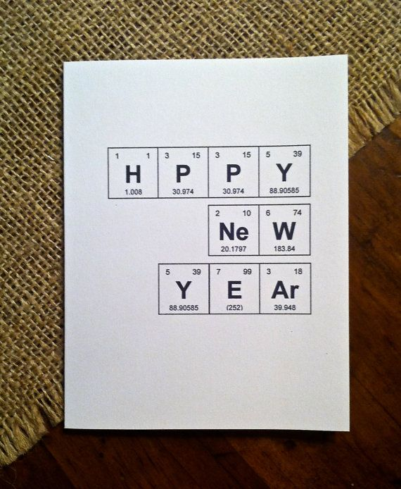 Happy New Year Chemistry Periodic Table of the Elements  - new periodic table image