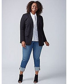43e5d80120737 Tailored Stretch Girlfriend Blazer at Lane Bryant!