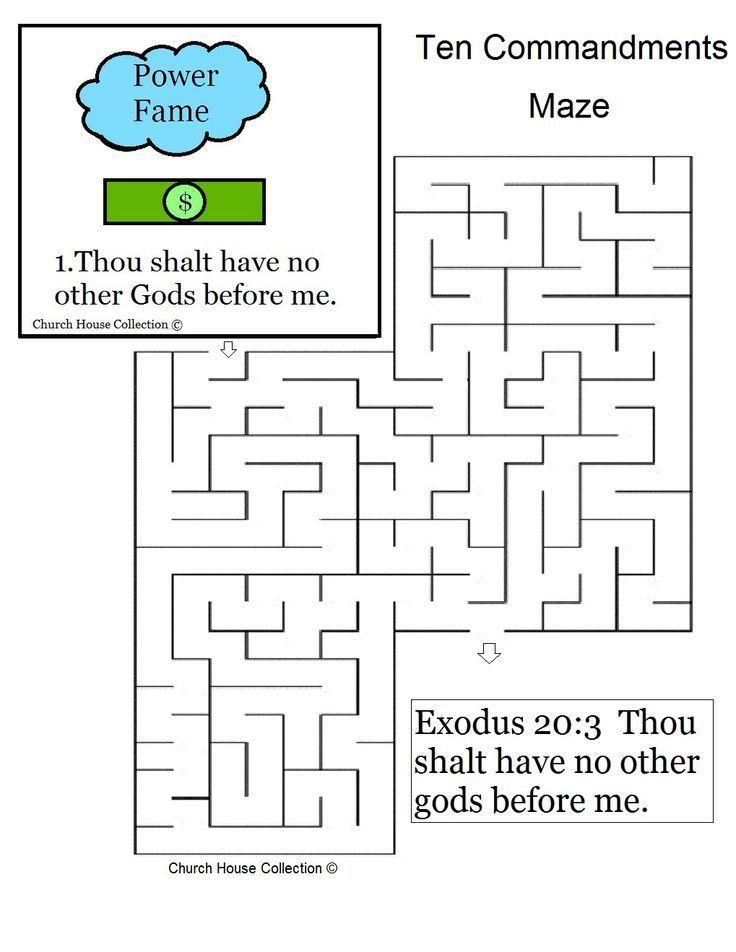 Ten Commandments Catholic Coloring Pages Ten Commandments Coloring ...