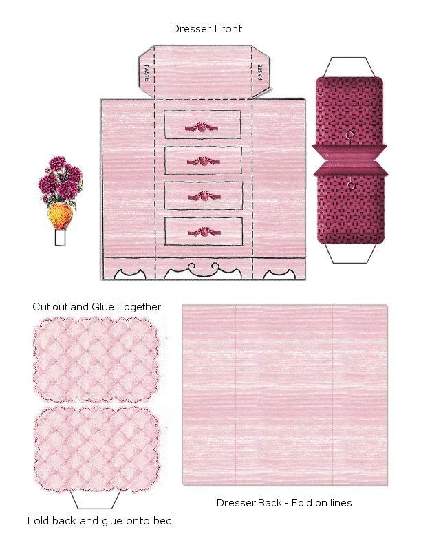 Paper Crafts Interior Model Bedroom 2 Free Printable Paper