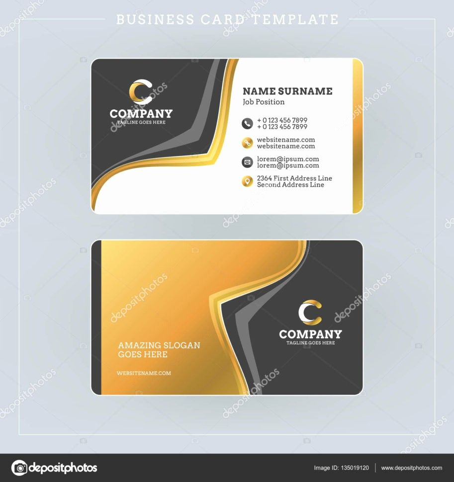 Two Sided Business Card Template Inspirational Two Sided Business Card Template Double Sided Business Cards Business Card Template Word Business Card Template