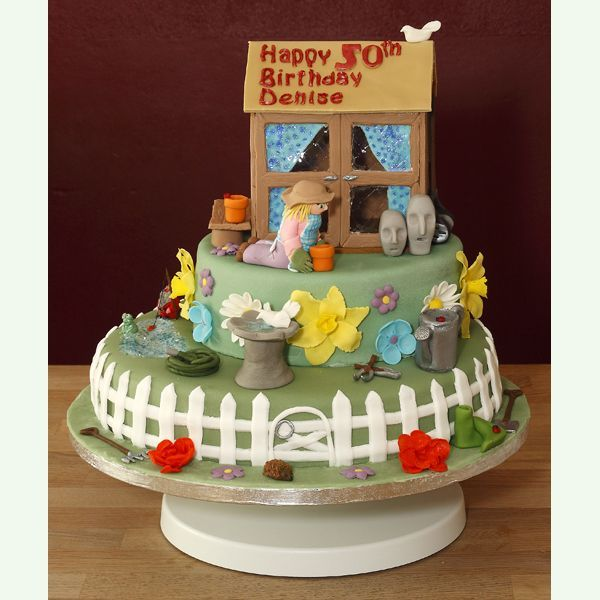Great Summer Cakes | Garden Themed Cake with handmade ...