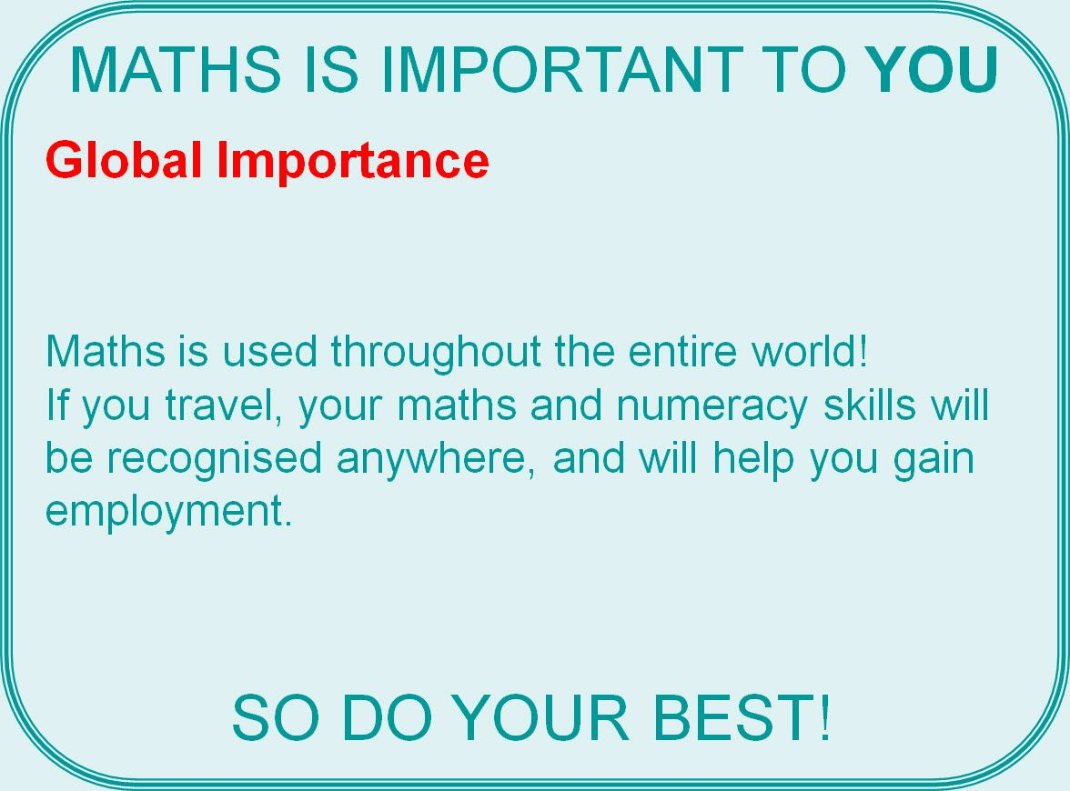 Why Maths Is Important
