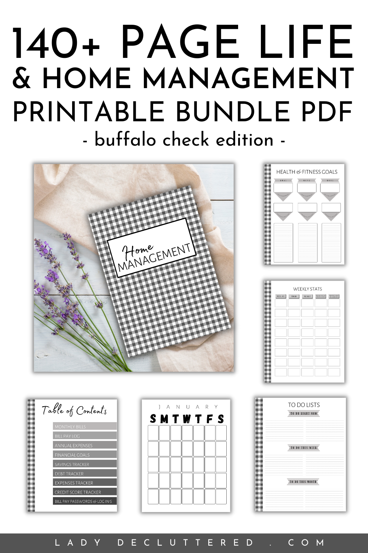 26+ 140 Page Life & Home Management Printable Bundle PDF