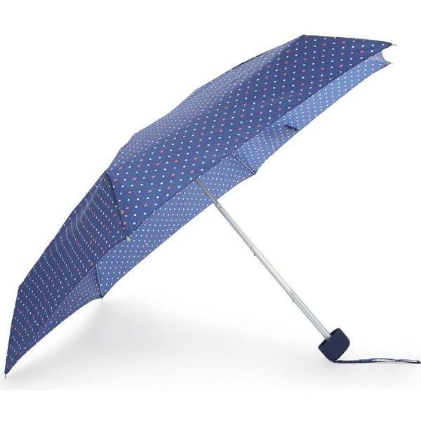 FULTON Polka dot heart small umbrella ($26) ❤ liked on Polyvore featuring accessories, umbrellas, heart umbrella, fulton, heart shaped umbrella, wind resistant umbrella and polka dot umbrella