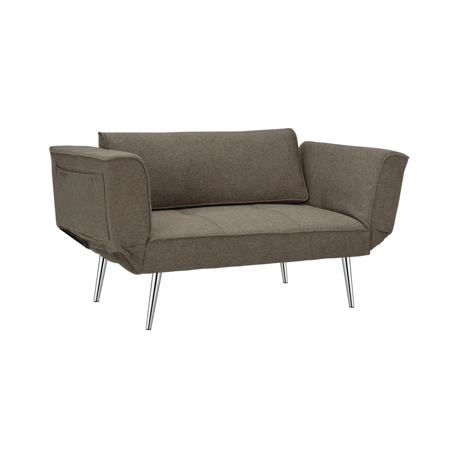 Dorel Home Products Convertible Sofa Grey 76 5 X 30 5 X 6 Inch