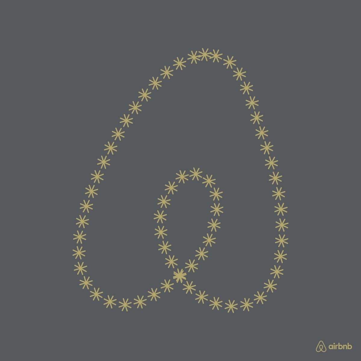 Symbolini kertoo tarinani. Luon Airbnb:tä