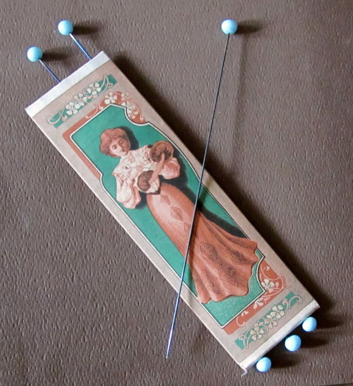 Baby crib for sale redditch - Details About Fabulous Antique Blue Glass Hat Pin Set 6 Orig Adv Package Redditch England