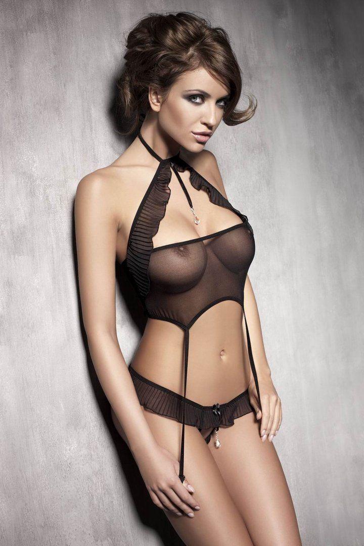 Sheer see through lingerie gf