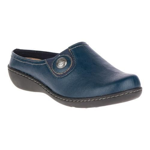 Women s Soft Style Jamila Clog Navy (Blue) Leather (US Women s 8 M ... 1543b6ad3e