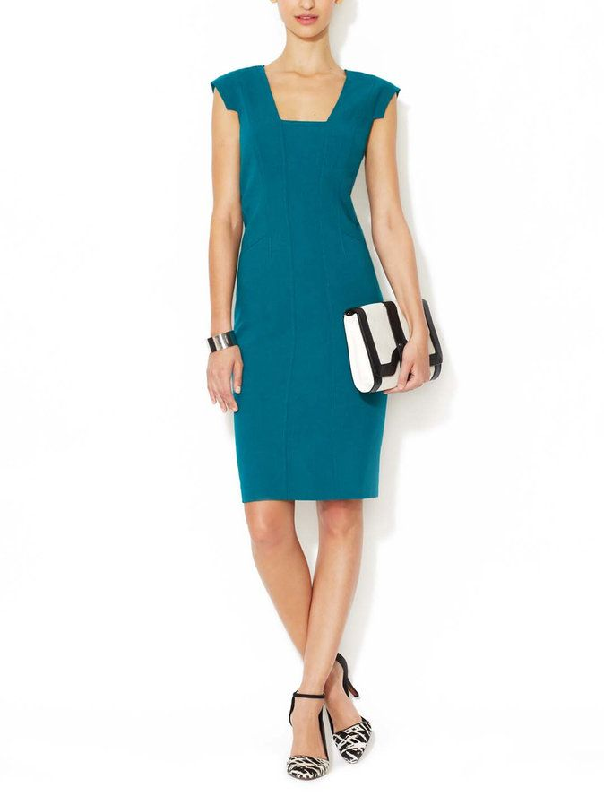 MAGASCHONI - Stretch Wool Sheath Dress