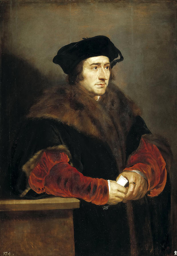 Portrait Of Sir Thomas More By Peter Paul Rubens Rubens Paintings Peter Paul Rubens Hand Painting Art