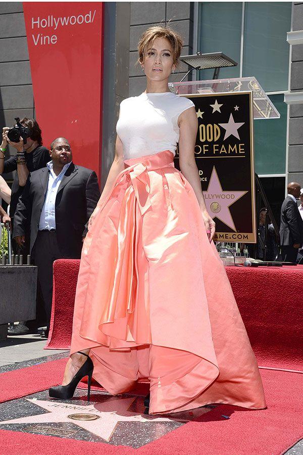 Jennifer Lopez Walk Of Fame Outfit - Christian Dior