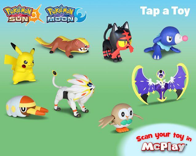 McDonald/'s 2018 Pokemon Toys Set of 8 Toys NEW RARE
