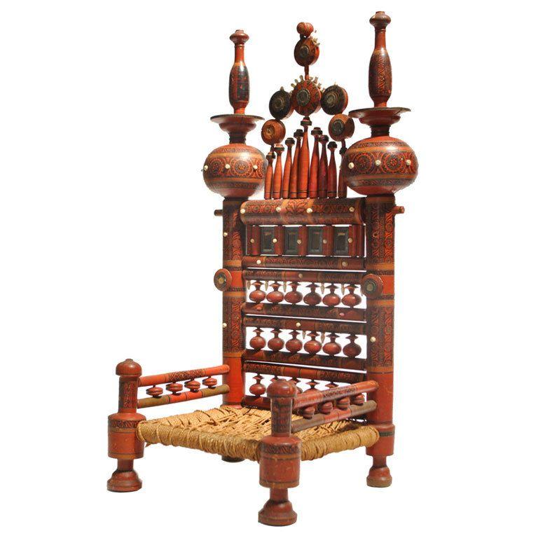 A Traditional Punjabi Low Chair Pakistan 20th Century Low Chair Traditional Furniture Eclectic Chairs