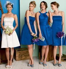 David S Bridal Horizon Bridesmaid Color I Loved With And The Dress Paired A Cornflower Blue Sash Reversed Colors For