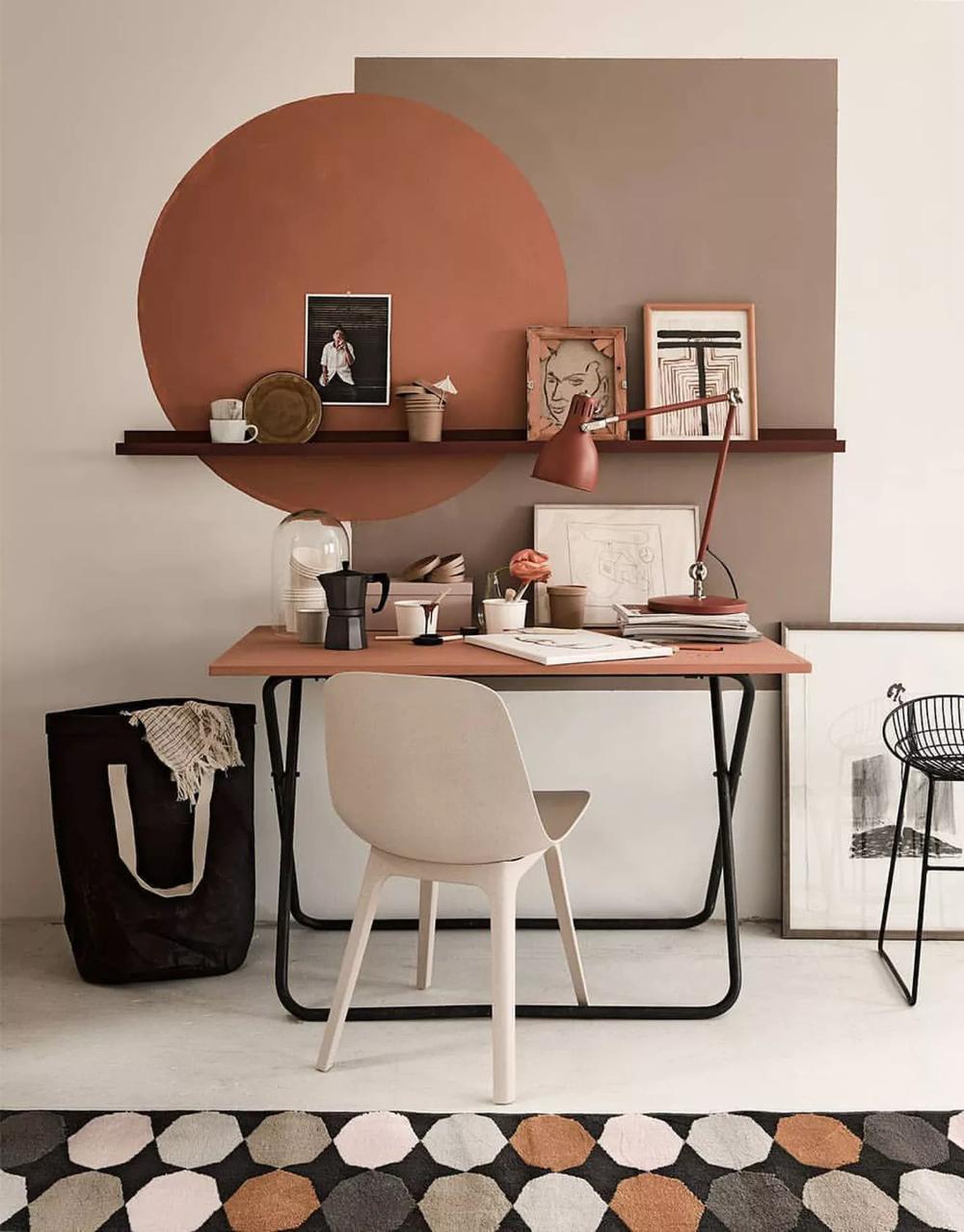 Photo of Décor do dia: pintura geométrica na parede do home office