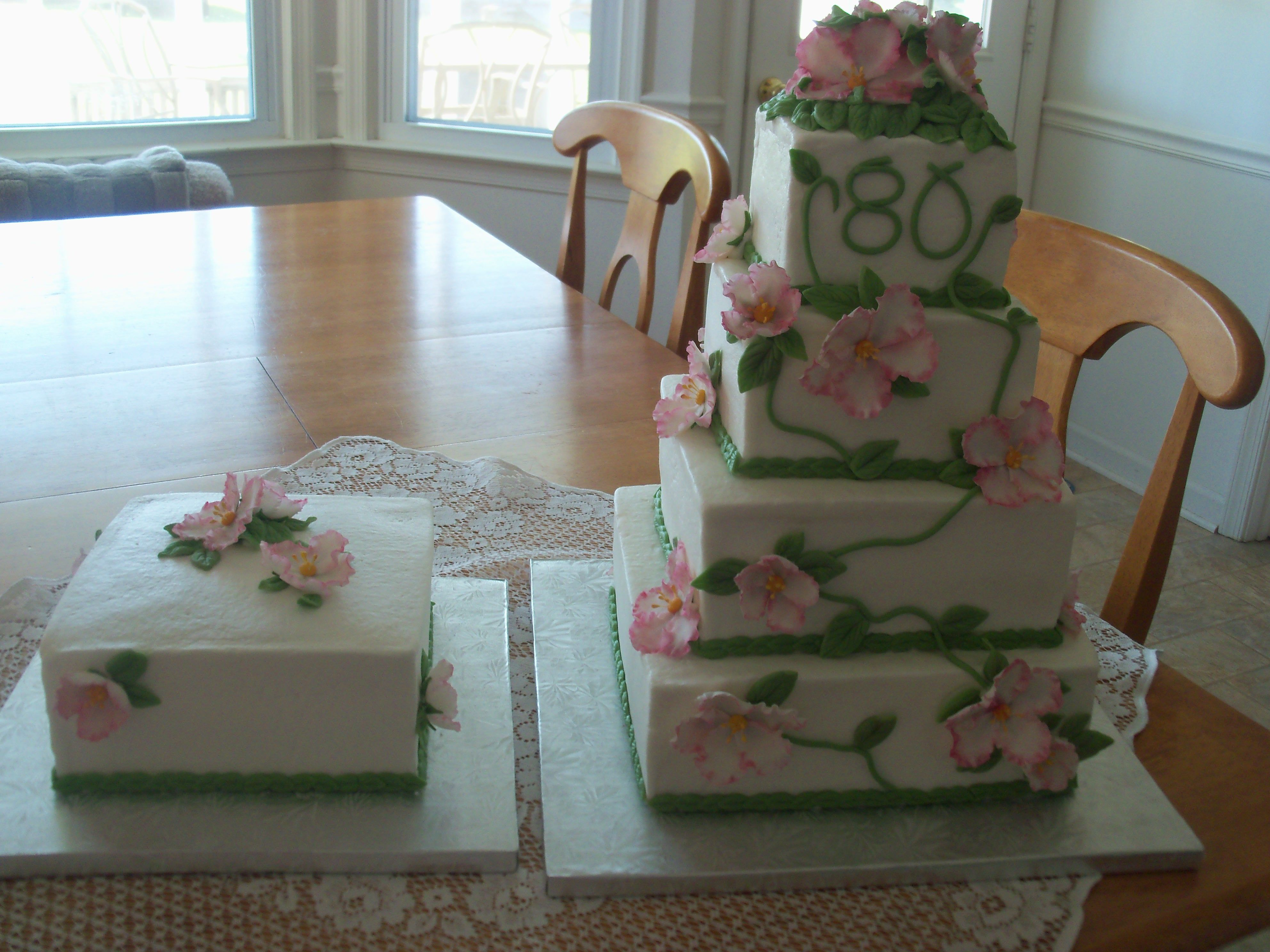 80th Birthday Cake With Additional For Candles