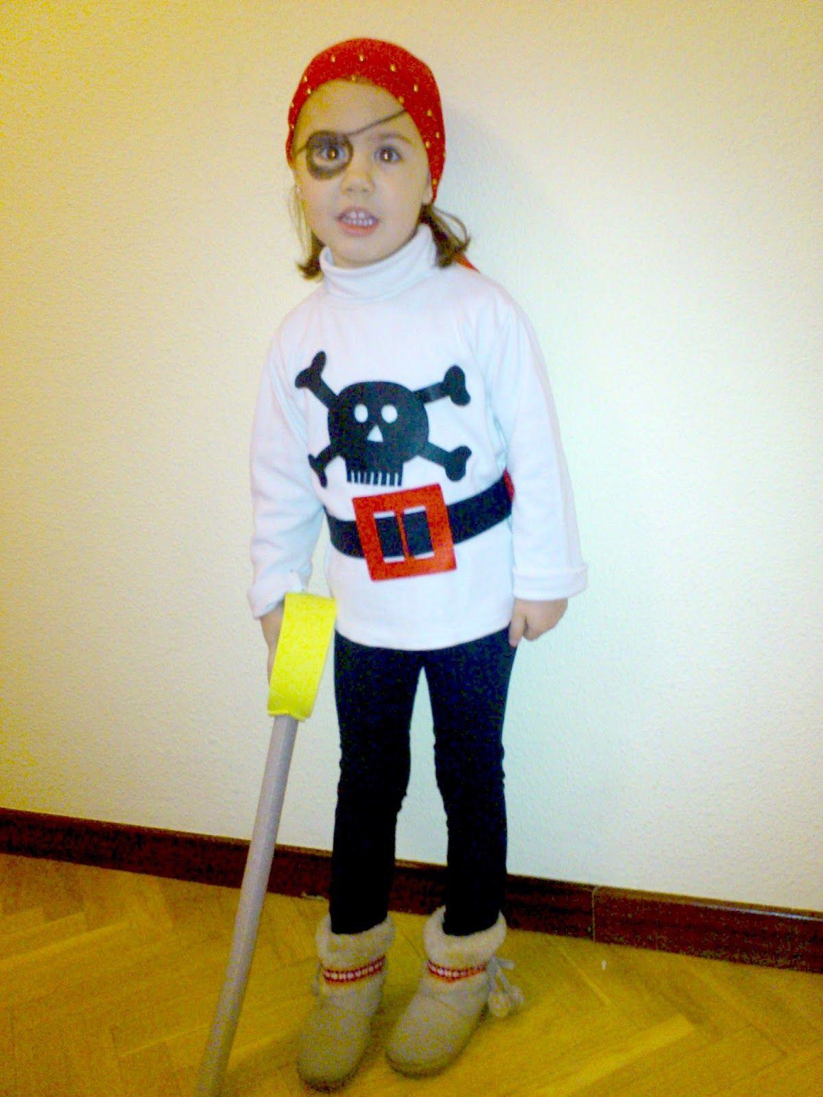 Disfraz de pirata DIY Niños, Diy y Trapillo
