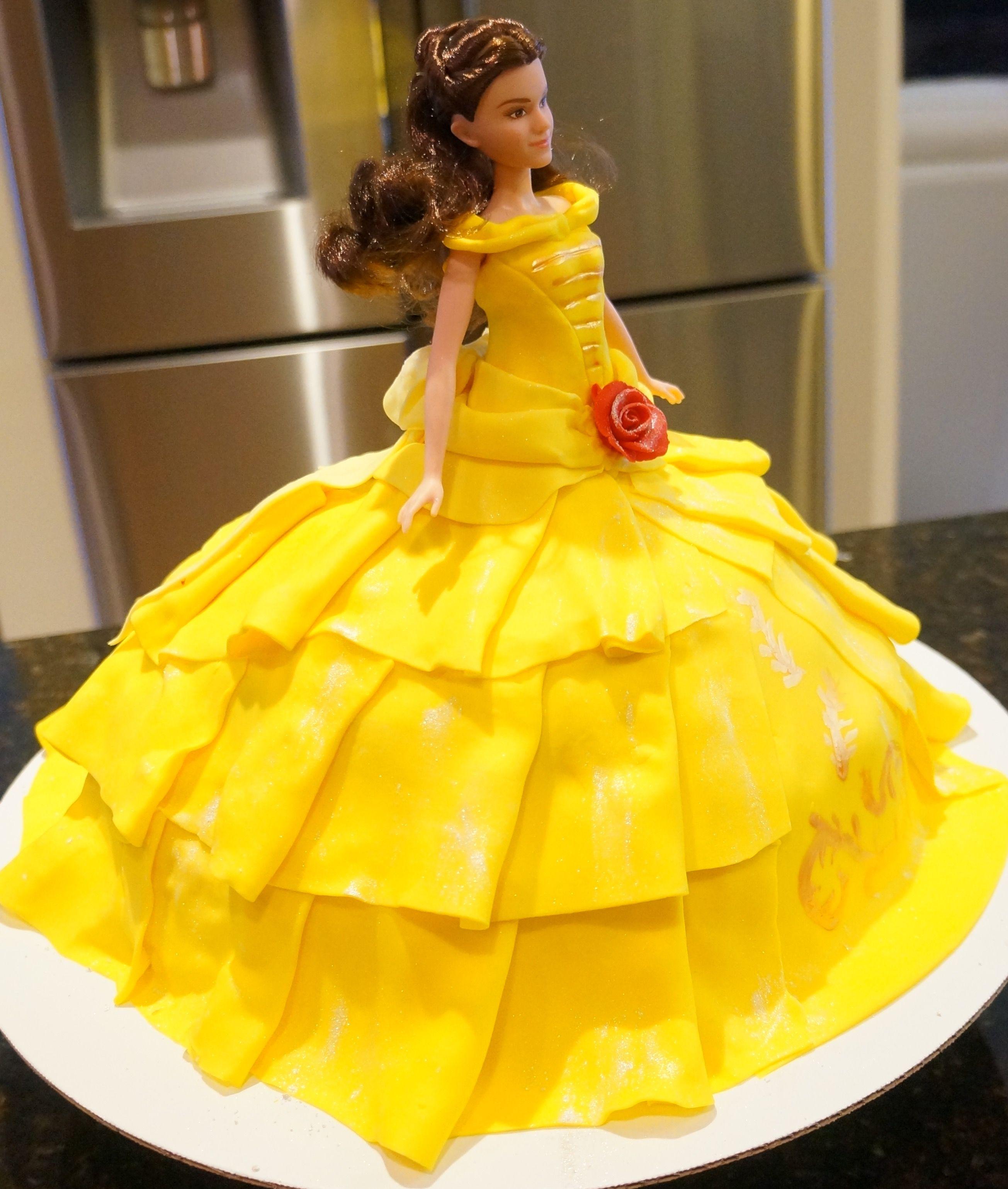 Belle doll cake Belle doll cake Pinterest Cake Birthday cakes