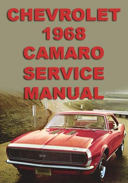 chevrolet camaro 1968 workshop manual chevrolet car manuals rh pinterest com 2016 chevrolet camaro service manual set 1992 chevrolet camaro service manual