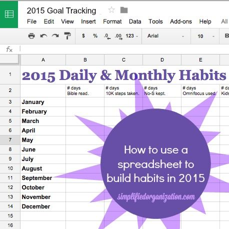 Track Your Progress With A Goal Tracking Spreadsheet  Building