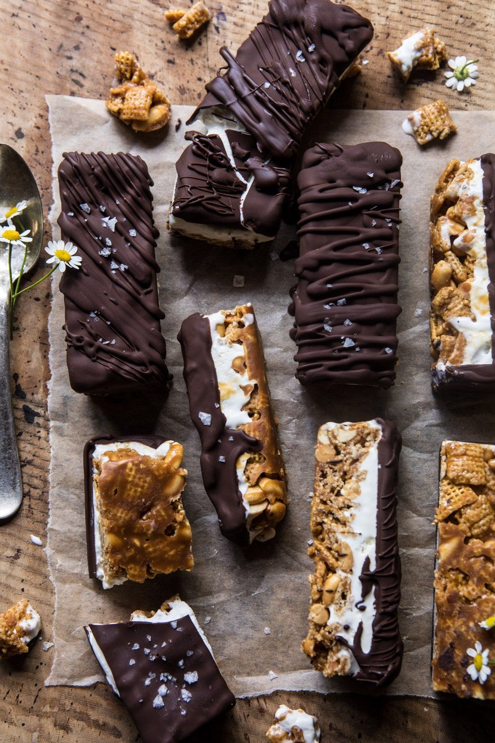 Photo of Chocolate Caramel Crunch Ice Cream Bars. – Half Baked Harvest