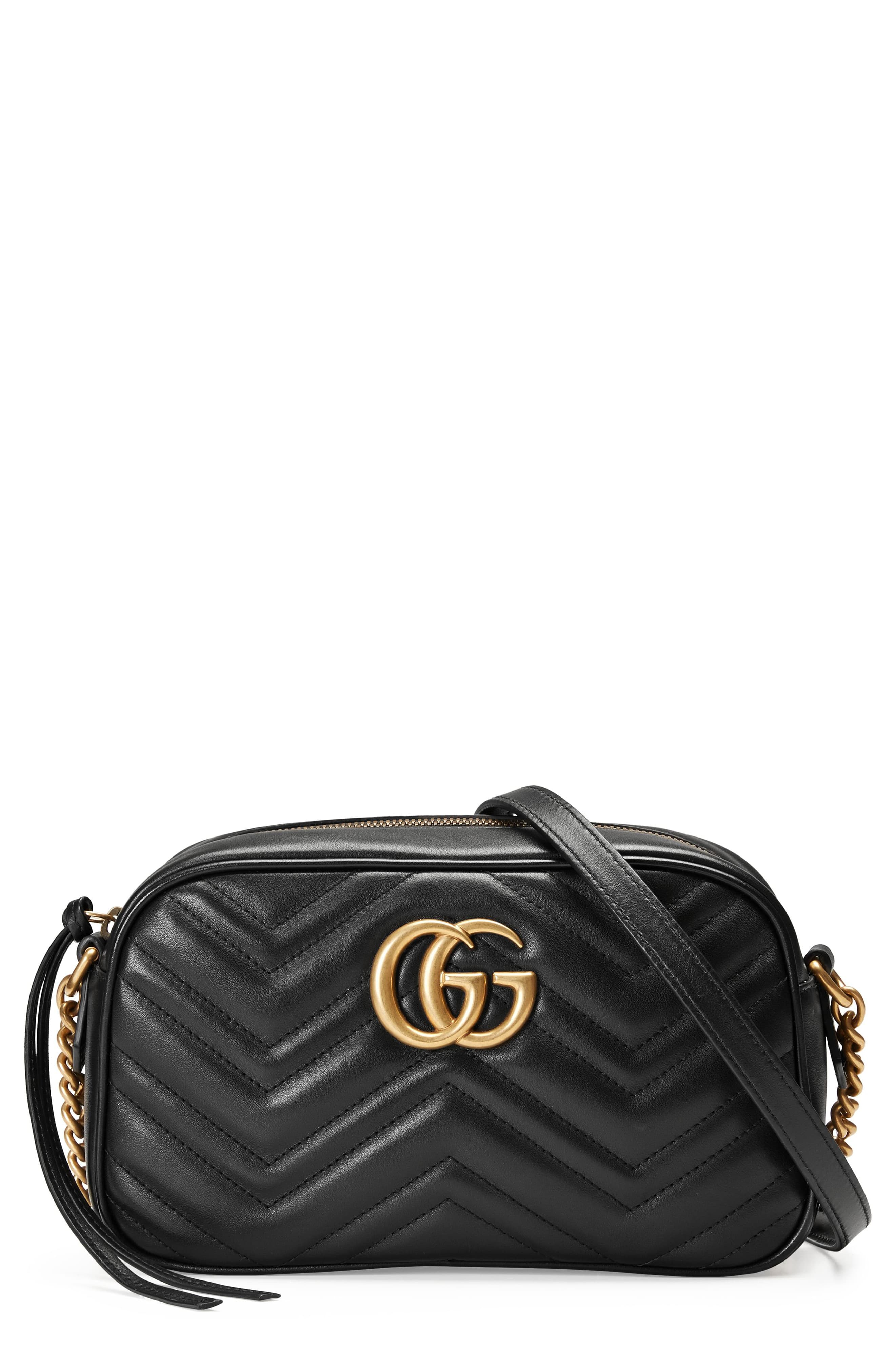 734da6de Gucci Small Gg Marmont 2.0 Matelassé Leather Camera Bag - Black in ...
