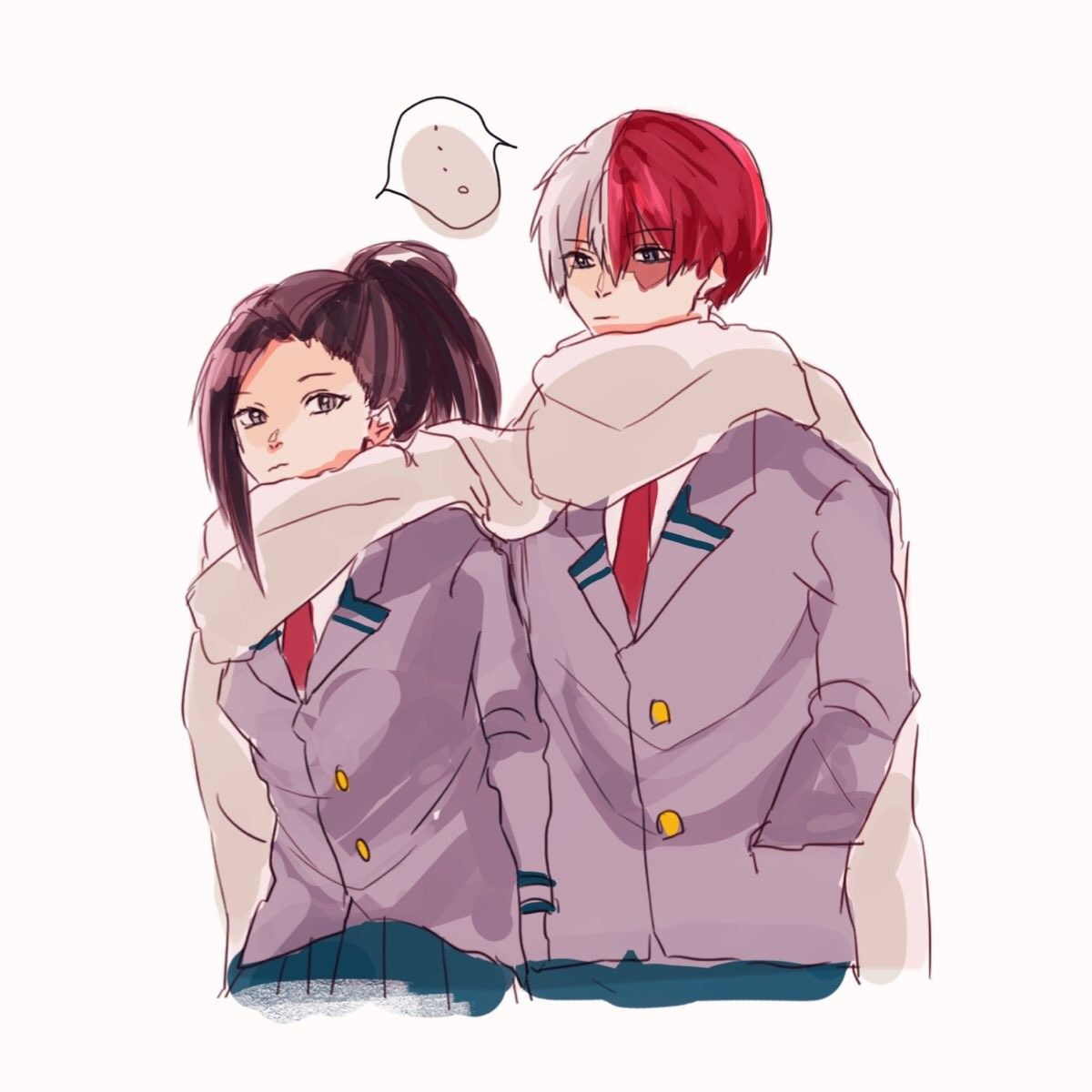 Pin On Shoto X Momo
