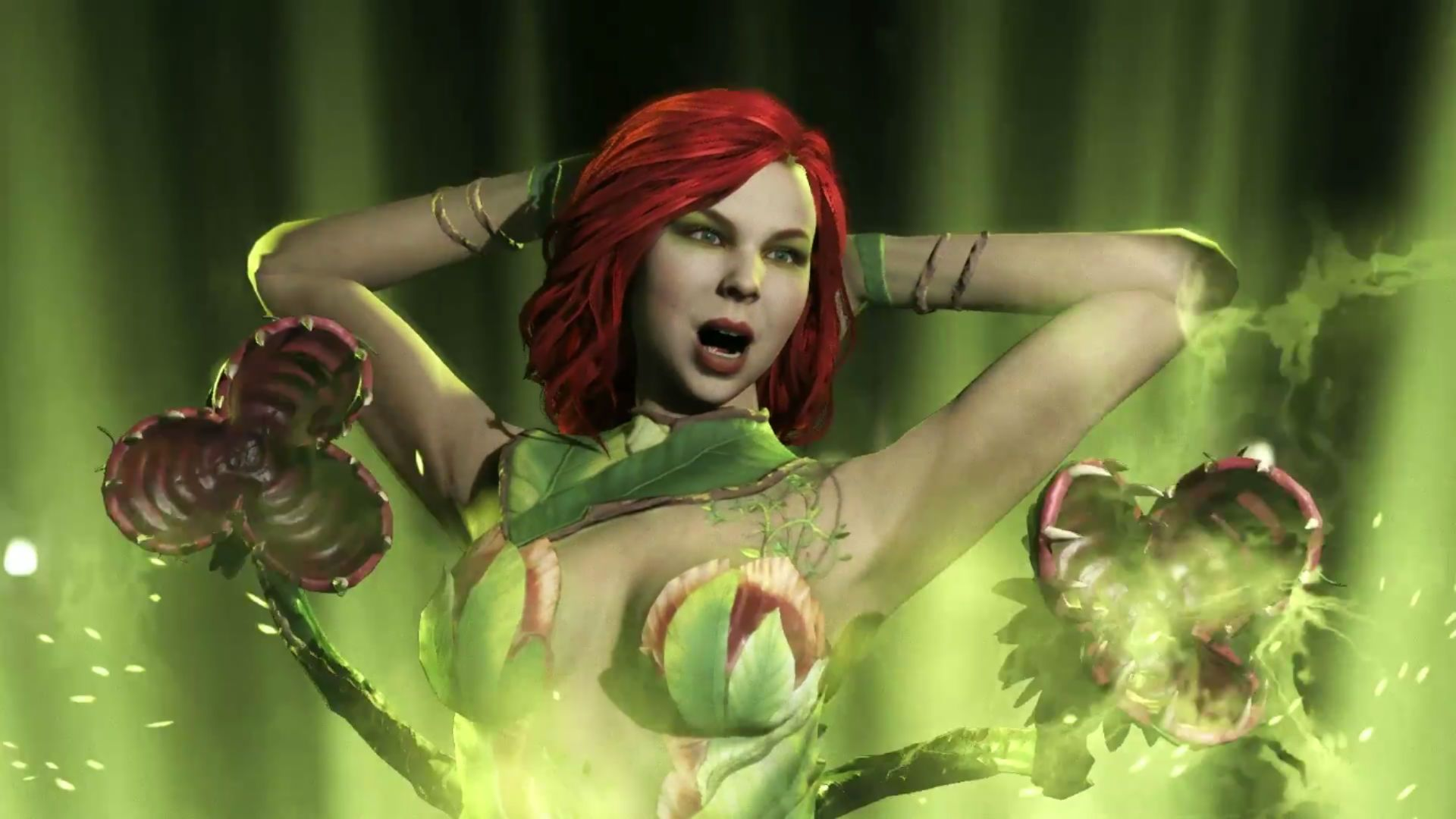 Poison Ivy Knows That She S Toxic In Her Full Injustice 2 Gameplay Trailer One Of The Characters I M Sure Most Folks Were Exc Poison Ivy Injustice 2 Injustice