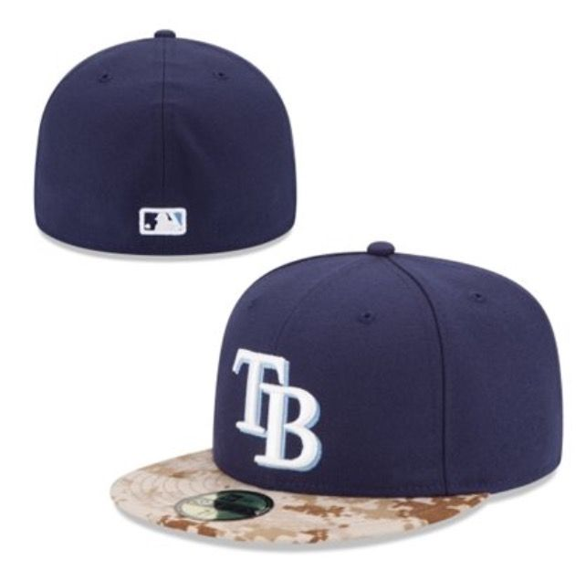 Tampa Bay Rays New Era 2015 Memorial Day On-Field 59FIFTY Fitted Hat - Navy 442a29af80e6