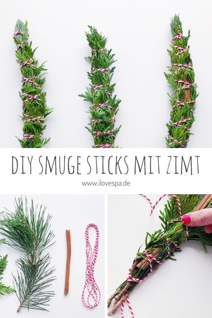 DIY Smudge Sticks Winter – Räucherbündel selber machen im Winter